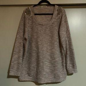 Sequin Embellished Knit Sweater